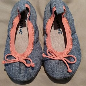 Toddler girls flats-size 8